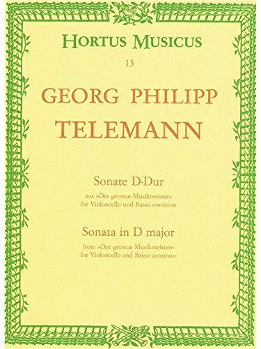 Telemann: Sonata in D Major, TWV 41:D 6 (Cello & Piano)