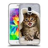Head Case Designs Kätzchen In Einem Warmen Tuch Katzen Soft Gel Hülle für Samsung Galaxy S5 Mini