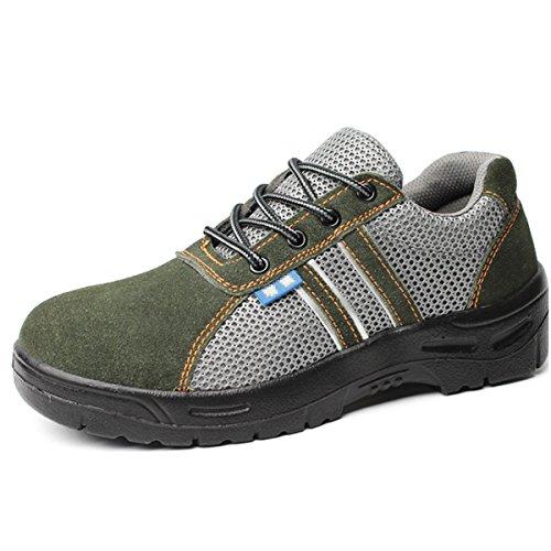 CHNHIRA Homme Femmes Chaussures Sécurité Chantiers Chaussure de Travail Unisexes Semelle de Protection