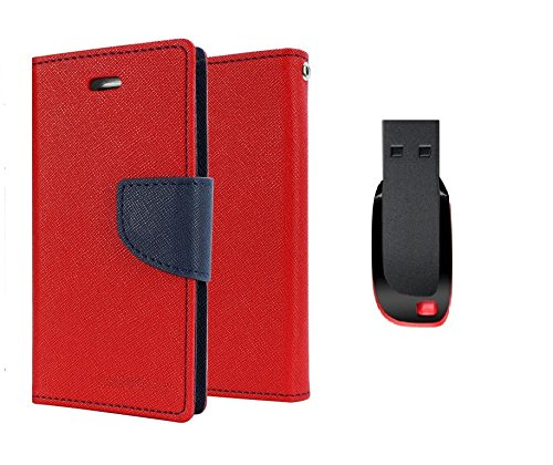 T.O.S TOS Premium combo of Flip cover and 8GB Pendrive for Samsung Galaxy Core Prime