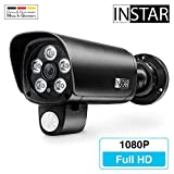 INSTAR IN-9008 Full HD wetterfeste LAN / WLAN Überwachungskamera bzw. IP-Kamera, schwarz