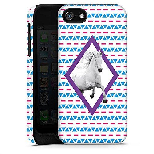 Apple iPhone X Silikon Hülle Case Schutzhülle Unicorn Einhorn Hipster Muster Tough Case matt