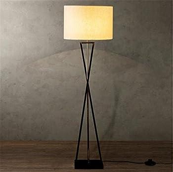 Atmko®black Reading Floor Lamp Fabric Lampshade Wrought-iron Lamp Base Living Room Bedroom Bedside Modern Lighting Decor 0