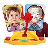 Ncient Cara Splash Pie Face Showdown Doble Juego de Mesa Juguete Regalo para Niños Adultos de Más de 6 Años de Edad Juego de Acción y Reflejo Golpe en Cara para Dos Jugadores