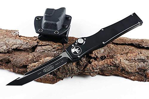 Multi EDC Outdoor Taschenmesser Klappmesser Titan Aluminium Griff Flipper Teleskop Messer ELMAX Stahl Klinge Überlebensmesser Rettungsmesser schwarz mit Kydex Scheide Pocket Knife
