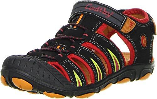Conway Kinder Trekkingsandalen Outdoorschuhe rot, Größe:35, Farbe:Rot