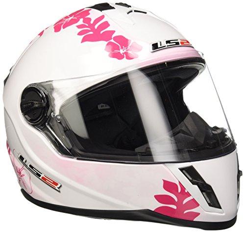 Vanity LS2 FF392 - motocicleta-casco infantil - casco integral para niña Blanco negro/blanco Talla:small