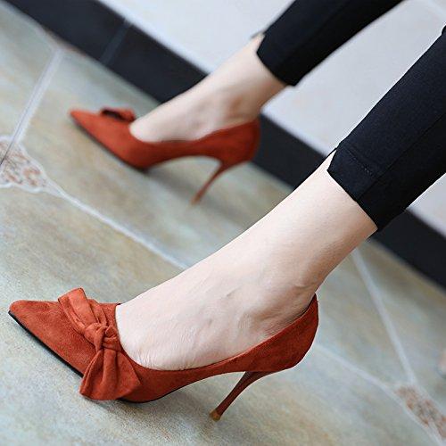 FLYRCX Sharp bow ammenda tacco scarpe tacco primavera e autunno stagione di lady moda sexy singola calzatura B