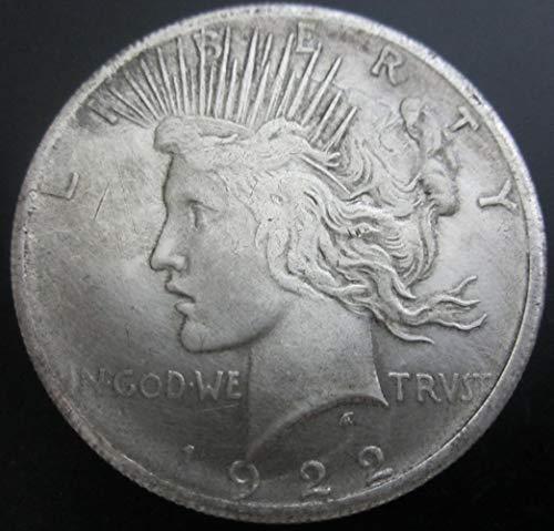 YWJHY Freiheitsstatue Pigeon Antique United States 1922 Silver Dollar,Silber,Einheitsgröße (Silver Dollar Anzeige)