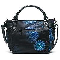 Desigual - Bols_bollywood Mcbee, Shoppers y bolsos de hombro Mujer, Schwarz (Negro), 17x28.5x29 cm (B x H T) de Desigual