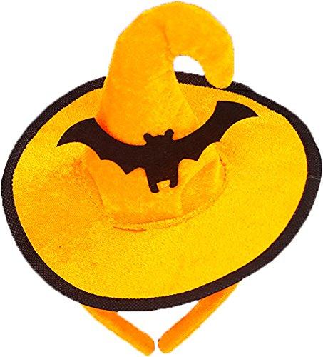 Stirnband Hexe Hut Haarband Kopfschmuck für Kinder Halloween Kostüm Party Dekoration,Eins (Halloween-hexe-hut Stirnbänder)