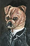 Funny Puggle Painting Journal: 100-page blank lined journal featuring a funny acrylic painting of a puggle in a suit