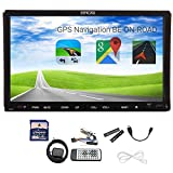 2015 New Modell Autoradio in Dash Car Stereo Video-Player GPS Navigation mit SD-Karte Doppel 2 DIN 7 Zoll GPS Navi Sat Radio Car CD DVD VCD Player HD Sensitive Digital Touchscreen Wince 8 UI Design Analog TV, BT, RDS, IPOD, Bluetooth-Freisprechfunktion, Callings und Musik