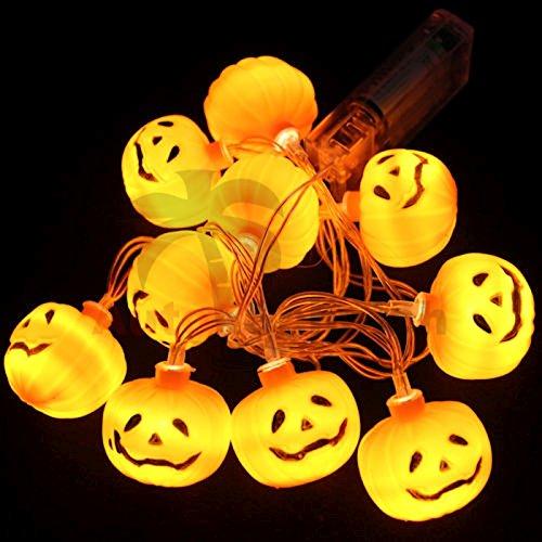Helloween Kürbis Lichterkette LED Licht Dekoration Herbst Deko Party Beleuchtung Schmuck