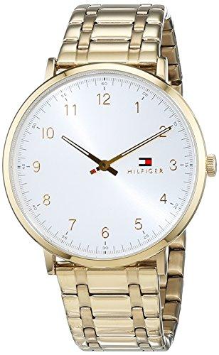 Tommy Hilfiger Herren Datum klassisch Quarz Uhr mit Edelstahl Armband 1791337