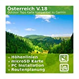 Österreich V.18 - Profi Outdoor Topo Karte - Europakarte Kompatibel zu Garmin Navigation - Zum Wandern, Geocachen, Bergsteigen, Radfahren, Radtour