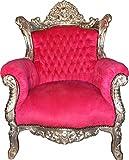 Casa Padrino Barock Sessel 'Al Capone' Pink/Silber