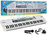 KEYBOARD MQ-008UF mit Aufnahme-Funktion, Mikrofon, RADIO, USB - 15 Sounds und 10 Rythmen, zwei Lautsprecher, Lautstärkeregler, 61 Tasten, LCD-Anzeige - Electric Piano