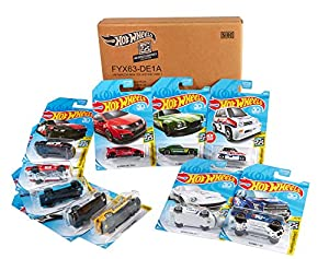 Hot Wheels - Pack de 10 vehículos de Hot Wheels, escala 1:64 (exclusivo Amazon) (Mattel FYX63)