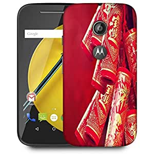 Snoogg Red Chinses Designer Protective Back Case Cover For MOTOROLA E2