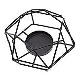 Hongma Geometrische Kerzenleuchter Kerzenständer aus Metall Nordisch Schwarz Zimmer Tische Dekor Geschenk