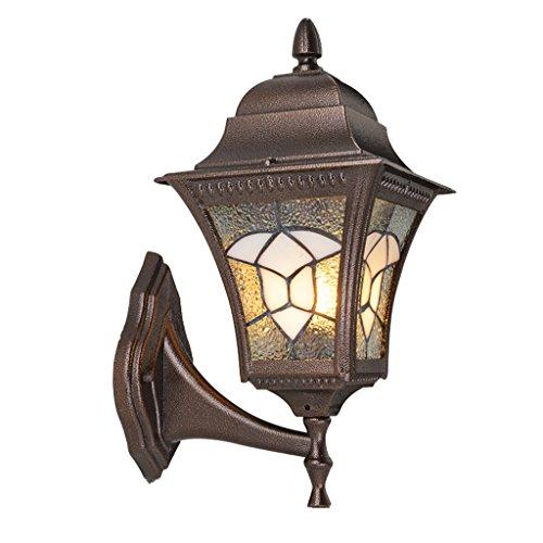 AMOS Applique murale extérieure imperméable à l'eau européenne balcon extérieur lampe rétro créative lampe de jardin lampe murale créative