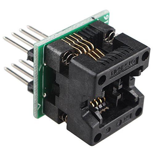HALJIA SOIC8 SOP8 zu DIP8 IC Socket Converter Module OTS-16-03 for 24xx 93xx EEPROM 24xx Serie