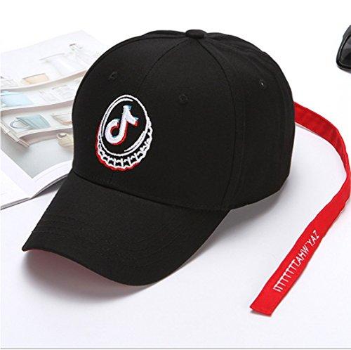 ersönlichkeit Mode Atmungsaktive Schatten Einstellbare Größe Männer Und Frauen Hut (Schwarz) (Zusammenklappbare Hut Schwarz Für Erwachsene)