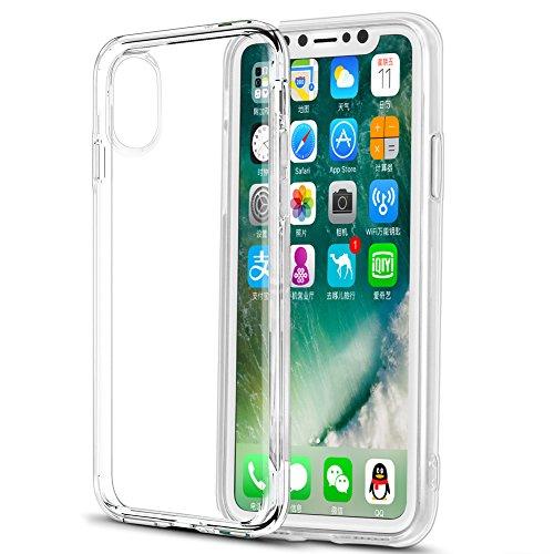 ceb440c5a7a Eouine Funda iPhone XS, Funda iPhone X, Ultrafina Carcasa de Silicona  Transparente Suave Gel