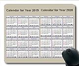 2019 Kalendermauspad groß, Kalendertisch Gaming-Mauspads, Kalenderplaner 2019 mit Feiertagsdetails