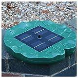 PK Green Solar-Wasser-Brunnen-Teich-Pumpen-Installationssatz - schwimmende Lilien-Auflage-Pumpe für Garten-Teich, Vogel-Bad