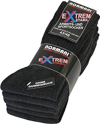 10 Paar EXTREM Stabile Arbeitssocken Socken - Ferse und Spitze EXTRA verstärkt - ohne gummidruck ! Farbe anthrazit Größe 35-38