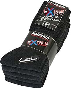 10 Paar Stabile Arbeitssocken von normani® - Socken - Ferse und Spitze EXTRA verstärkt - ohne gummidruck ! Farbe Anthrazit Größe 35/38