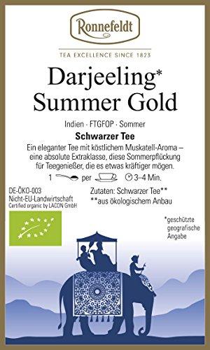 Ronnefeldt - Darjeeling** Summer Gold - Bio - Schwarzer Tee aus Darjeeling - 100g