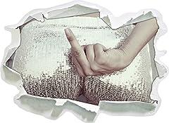 Idea Regalo - Frauenpo con Dito Medio, di Carta 3D della Parete di Formato: 62x45 cm Decorazione della Parete 3D Wall Stickers Parete Decalcomanie