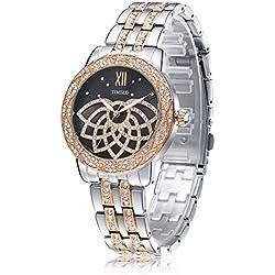 Time100 Luxury Diamonds Fashion Case Bracelet Quartz Womens Watch #W80108L.02A