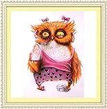 Yeesam Art New 5D Diamond Painting kit–rosa Owl–DIY cristalli strass pittura incollato vernice di numero kit ricamo a punto croce