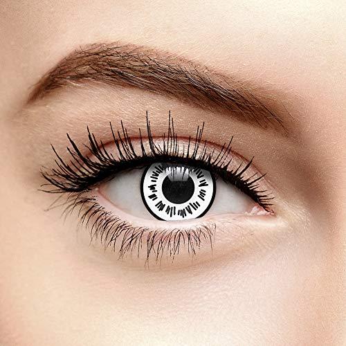 Coloured Contacts Hinata Byakugan Farbige Kontaktlinsen Ohne Stärke Weiß (30 Tage)