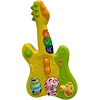 Popsugar Musical Guitar and Mobile with Flashing Lights and Animal Sounds | Toy for Boys and Girls, Blue