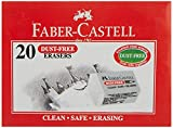 Faber-Castell Dust-Free Erasers - Small, Pack of 20 (White)