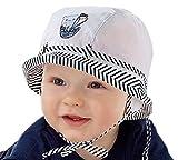 Sombreo de sol para bebé, para vacaciones en la playa, sombrero de verano, 69121824meses, 2a3años, nueva colección marinera White Navy Talla:2-3 years 52cm
