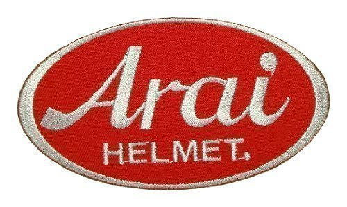arai Helmets motorcycle motocross Racing Red logo giacche (Logo Del Casco Patch)