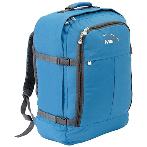 Cabin Max Backpack Flight Approved Carry On Bag Massive 44 litre Travel Hand Luggage 55x40x20 cm – Metz Light Blue