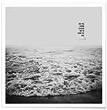 "JUNIQE Posters 50x50cm Anniversaries & Love Black & White - Design ""Tide x Johnny Cash"" (Format: Square) - Pictures, Art prints & Prints by independent artists - Black & white art - Designed by Leah Flores"