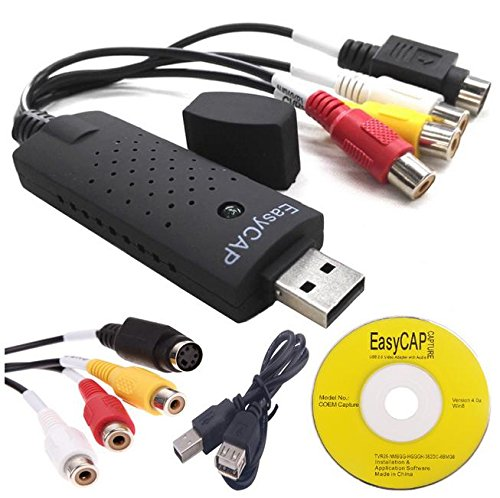 EasyCAP capturadora de video USB 2.0 - compatible con Windows XP, Vista, 7 y 8 x32 x64