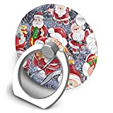 Egesgegts Phone Holder Santa Christmas 360° Rotation Ring Holder Finger Grip for All iPhones Mobile Smartphones and IPads