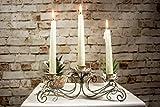 HomeZone Rustikale Antiker Stil 3 oder 5 Arm Vintage Eisen Konus Kerzenständer Weihnachten Tisch Tafelausatz Französischer Armleuchter Kerze Brücken Kunstvoll Getragen Elegant Wohndeko Kerzenleuchter