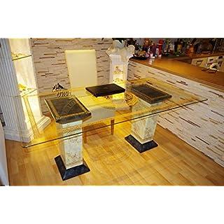 AWD Schreibtisch Computertisch Bürotisch Nageltisch Manikürtisch Glasplatte 180cmx90cm