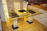 Schreibtisch Computertisch Bürotisch Nageltisch Manikürtisch Glasplatte 180cmx90cm