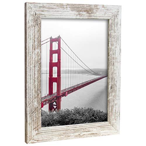 Bilderrahmen Fotorahmen 50x60 cm Vintage bilderrahmen zum aufhängen MDF Picture Frames Farbe und 40 Verschiedene Größen wählbar ohne Passepartout Rahmen Rio